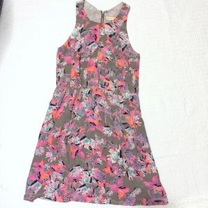 Rebecca Taylor Exposed Zipper Floral Dress